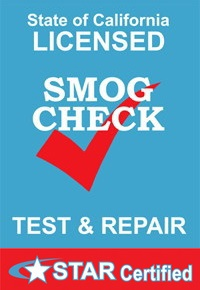 Star certified smog check logo, M V Automotive, Auburn, CA, 95603