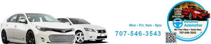 Bonanno Automotive, Santa Rosa CA, 95403, Lexus Repair, Toyota Repair, Honda Repair, Scion Repair and Auto Repair
