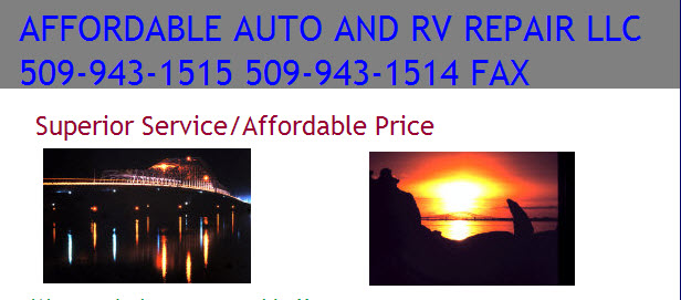 Affordable Auto And Rv Repair, Richland WA, 99352, Auto Repair, Engine Repair, Transmission Repair, Brake Repair and RV Repair